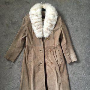 Vintage   Genuine Leather Coat with Fur   BOL